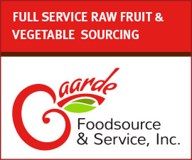 GAARDE FOODS - FULL SERVICE RAW FRUIT & VEGETABLE SOURCING